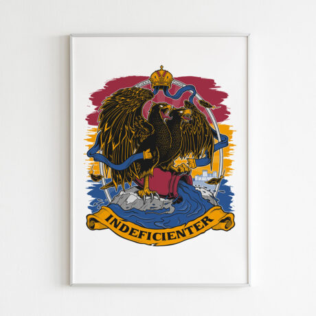 Indeficienter-b2-poster dvoglavi orao trobojnica Grad Rijeka