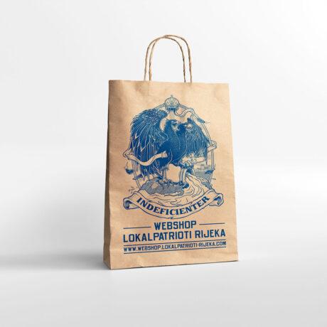 Papirnata reciklirana vrecica Indeficienter Lokalpatrioti Rijeka webshop
